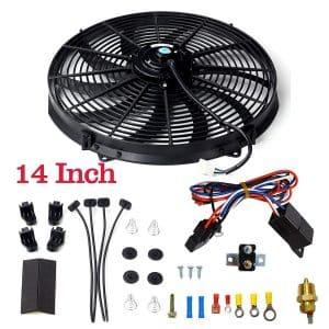 BLACKHORSE-RACING Universal 14 inches Electric Radiator Fan