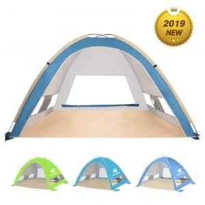 KEUMER Venustas Large Beach Tent - Easy Set Up for Family Adults