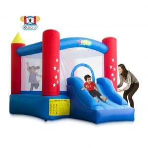 YARD Indoor and Outdoor Bounce House W/Slide Blower