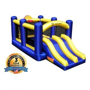 Island Hopper Racing Slide and Bounce House