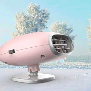 AUTOGO Portable Car Heater - 2 in 1 Car Heater/Cooling Fan (Pink)