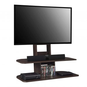 "Ameriwood Home Galaxy Espresso TV-Stand with Mount for 65"" Wide TVs"