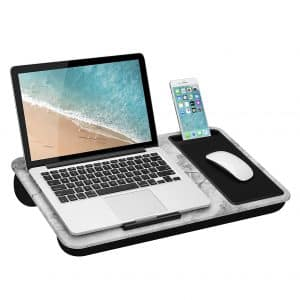 "LapGear Lap Desk - Fits Up to 15.6"" Laptops (White Marble)"