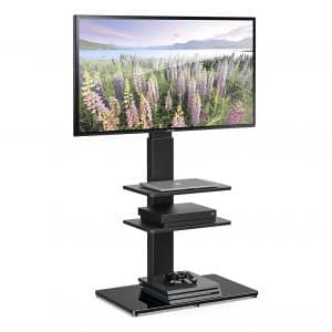 FITUEYES TT307001MB Universal 32-65 Inch Screen TV-Stand with Swivel Mount