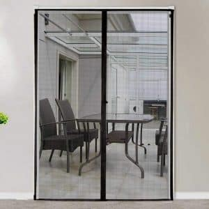 MAGZO French Fiberglass Magnetic Screen Door