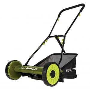 Snow Joe MJ500M Reel Mower 16 inch Grass Catcher