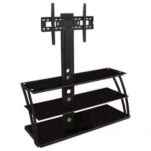 Mount-It! TV-Stand with Storage Shelves and Mount