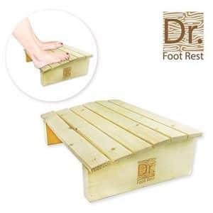 Dr. Dry Foo Rest Wood Ergonomic Under Desk Foot Rest