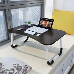 Widousy Laptop Bed Table with Foldable Legs, Standard Size