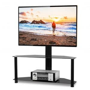 5Rcom Floor TV-Stand with Height and Swivel Mount for up to 65-inches