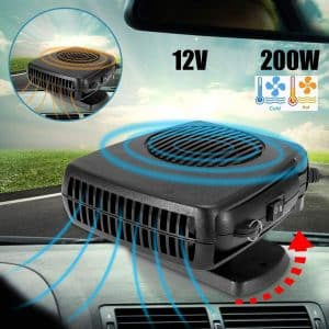 DEALPEAK Portable Car Cooler and Heater Fan