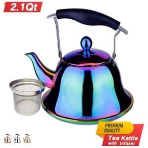 Rainbow Whistling Tea Kettle
