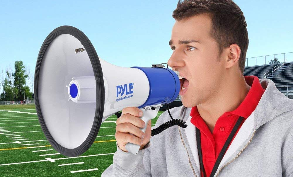 Megaphone Speaker with Built-in Siren Voice Amplifier Multipurpose Sports Drills