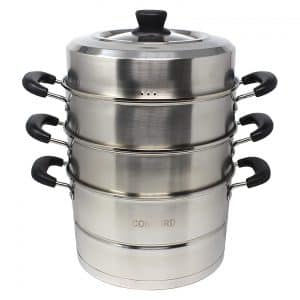 Concord Cookware 28 CM 3-Tier Stainless Steel Steamer