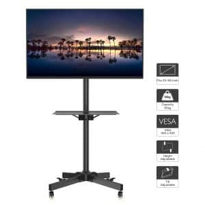 1Home Mobile Rolling Cart TV Stand