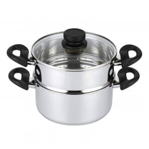 Mockins 3-Piece Heavy Duty Steamer Pot Set