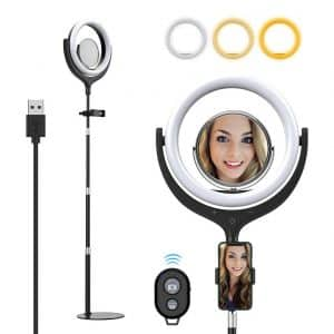 Yoozon 10-inches LED Selfie Ring Light w/stand