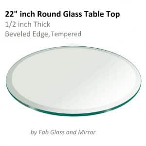 Fab Glass & Mirror 22-inches Round Glass Tabletop