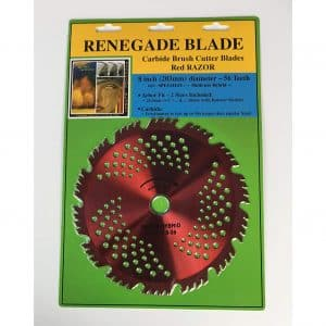 "Renegade Blade 8""-56t Razor Carbide Brush Cutter"
