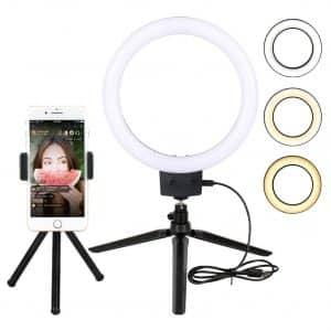 """Yatuela 9"""" LED Selfie Ring Light w/Tripod Stand"""