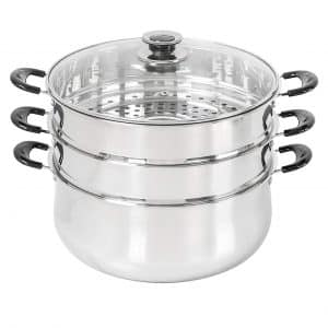 Concord 30 CM Stainless Steel 3 Tier Steamer