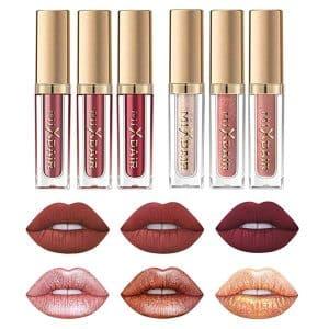 Matte Nude Lipstick Set & Liquid Glitter Lipstick Set