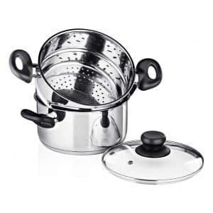 Chef's Star 3-Piece Stainless Steel Steam Pot Set