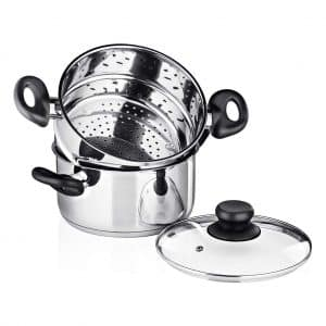 Chef's Star 3-Piece Stainless Steel Steam Pot Set