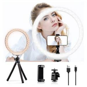 K&F Concept 10-inches Selfie Ring Light w/ Stand