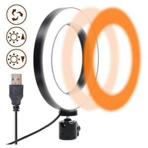 "Kwithan 8"" LED Selfie Ring Light w/ Tripod"