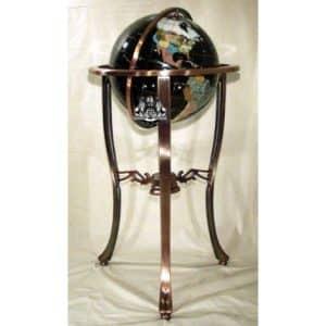 37' 3-Leg Copper Gemstone Globe