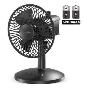EasyAcc Battery Oscillating Desk Fan