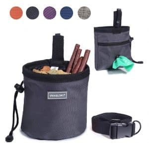 Vivaglory Training Pouch Dog Treat Bag with Adjustable Waistband