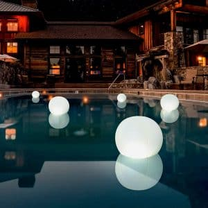 POP 2-PK 12 inches Globes Floating Pool Lights