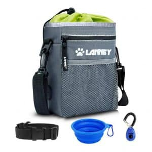 LANNEY Pet Training Bag Dog Treat Pouch with Shoulder Strap and Waist belt