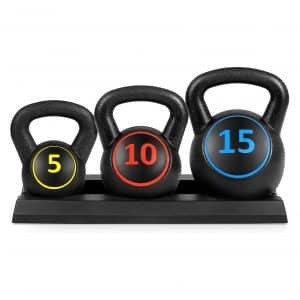 Best Choice Products 3-Piece HDPE Kettlebell