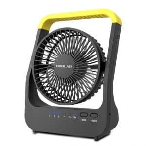 OPOLAR D-Cell Battery Operated Desk Fan