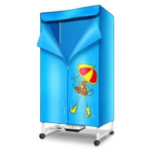 Folding and Portable Heater Warm Air Dryer for Wardrobe