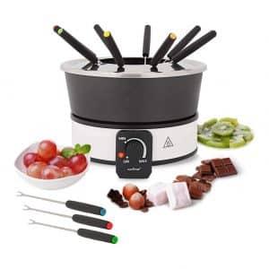 NutriChef Chocolate Electric Fondue Pot Set