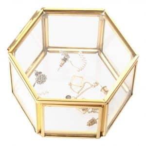 Feyarl Jewelry Trinklet Glass Box Organizer