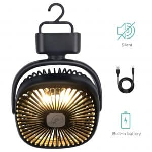 REENUO Portable Camping Lantern with Ceiling Fan