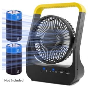 EasyAcc Battery Oscillating Desk Fan