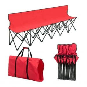 Giantex Portable Folding 6 Seats Chair Sideline Bench