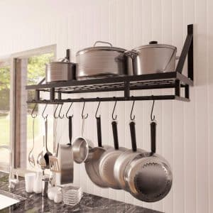 Kes 30-Inch Kitchen Pan Pot Rack