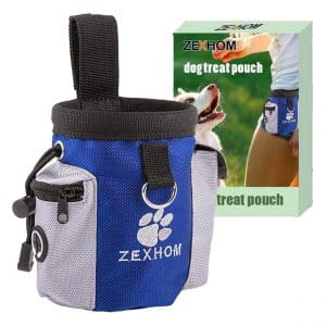 ZEXHOM Portable Dog Treat Pouch with Dog Bag Dispenser for Puppy Walking and Training