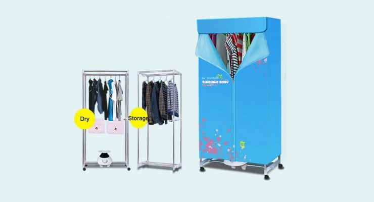 warm air drying wardrobe