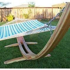 Petra Leisure 14 Ft. Natural Wooden Arc Hammock Stand