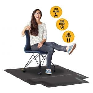Office Chair Mat with Anti-Fatigue Cushioned Foam