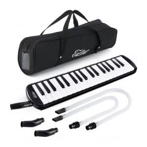 Eastar 37-Key Melodica Instrument, Carrying Bag - Black