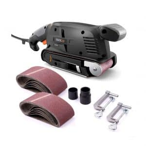 TACKLIFE PSFS1A Belt Sander with Variable-speed Control and 13Pcs Sanding Belts